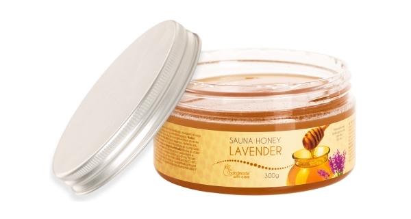 Med do sauny - vůně  levandule