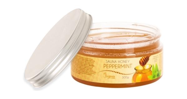 Med do sauny - vůně pepermint