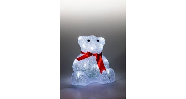 Medvěd svíticí LED dekorace