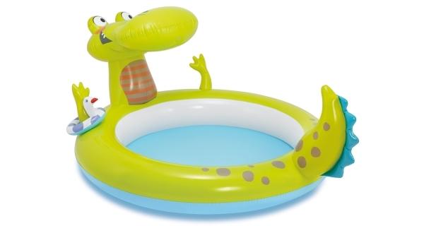 Nafukovací bazének s vodotryskem ve tvaru krokodýla