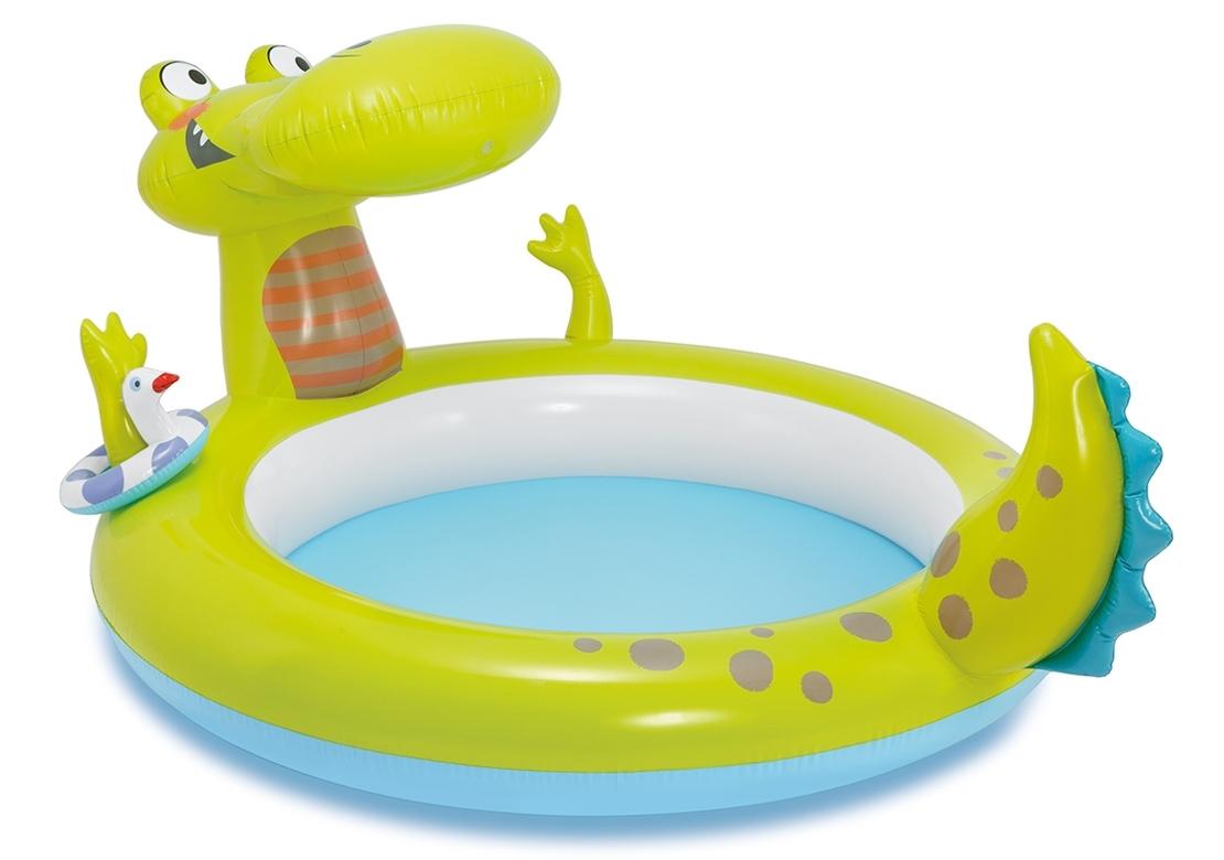 Marimex Nafukovací bazének s vodotryskem ve tvaru krokodýla - 11630191