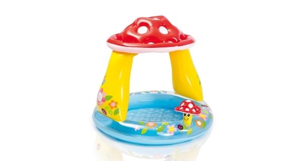 Nafukovací dětský bazén se stříškou - muchomůrka
