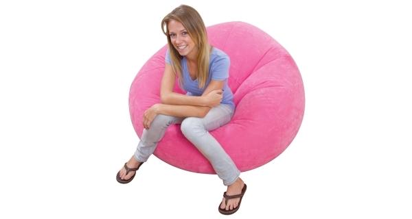 Nafukovací křeslo Intex Beanless Bag Chair - růžová