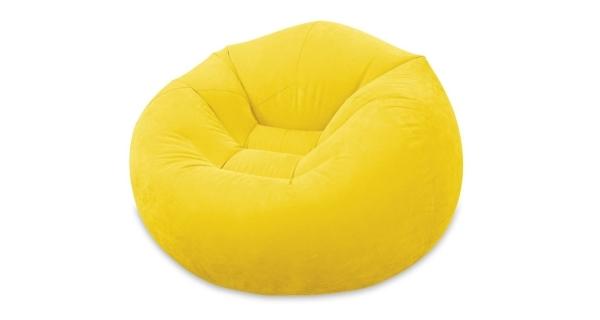 Nafukovací křeslo Intex - žluté