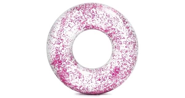 Nafukovací kruh 107 cm - třpytivý růžový