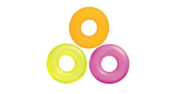 Nafukovací kruh 91 cm - neon