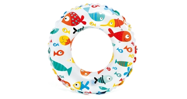 Nafukovací kruh Color 51 cm - rybičky