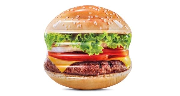 Nafukovací lehátko - hamburger
