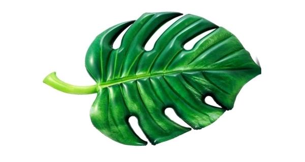 Nafukovací lehátko - palmový list