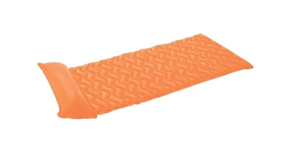 Nafukovací lehátko - vlnovka oranžová