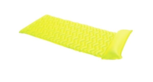 Nafukovací lehátko - vlnovka žlutá