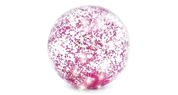 Nafukovací míč 51 cm - třpytivý růžový