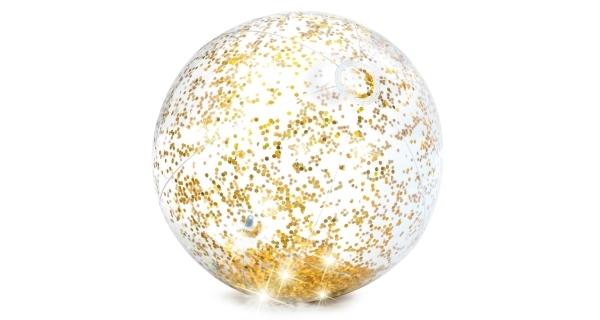 Nafukovací míč 51 cm - třpytivý zlatý
