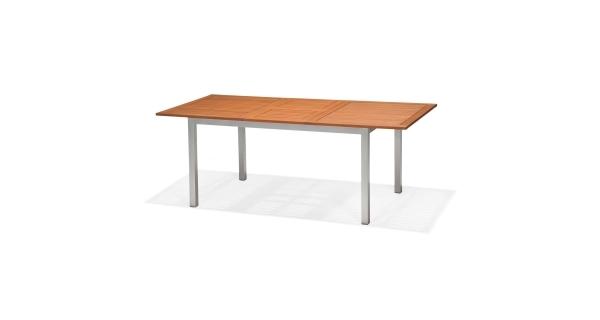 Obdélníkový stůl hliník/dřevo