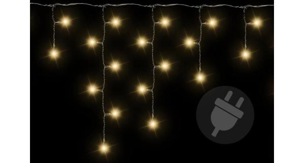 Osvětlení vánoční - déšť světelný 600 - teplá bílá - 11,9m