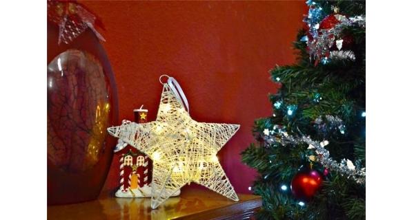 Osvětlení vánoční - Hvězda vánoční LED 25 cm