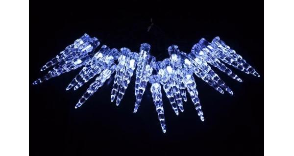 Osvětlení vánoční - řetěz solární s ledovými rampouchy