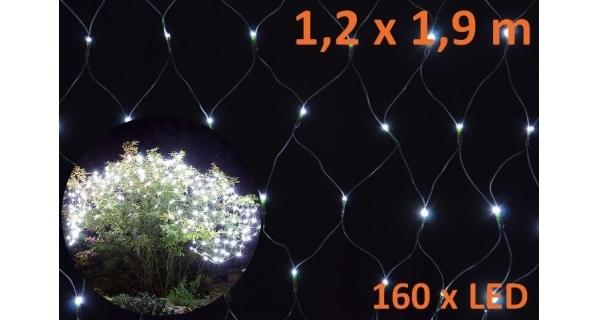 Osvětlení vánoční - síť světelná 1,2x1,9m - studená bílá