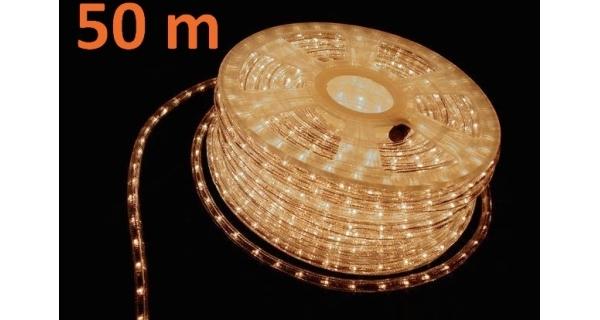 Pásek LED 50 m - 1800 minižárovek - teplá bílá