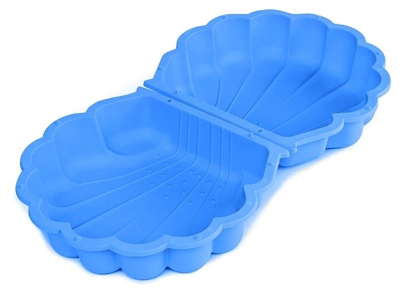 MARIMEX Pískoviště / bazének Mušle s krytem 2 ks modrá