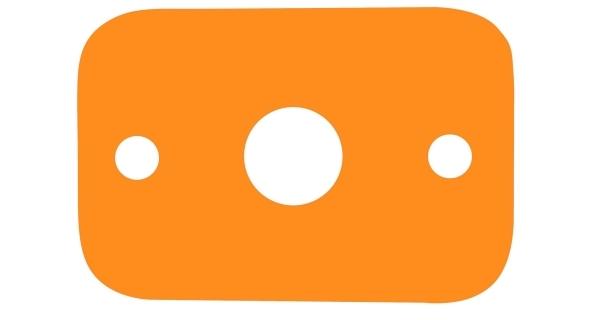 Plavecká deska - oranžová