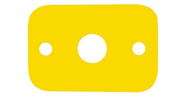 Plavecká deska - žlutá