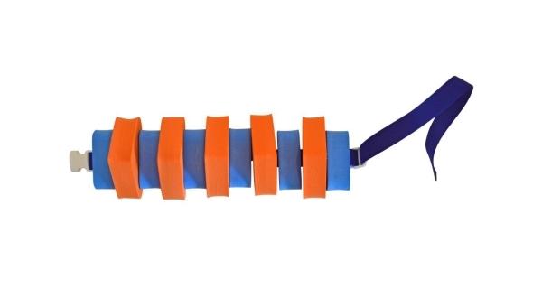 Plavecký pás 100 cm - oranžovo-modrý