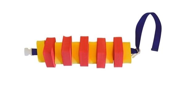 Plavecký pás pro děti - 100 cm - červeno-žlutý