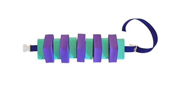 Plavecký pás pro děti 100 cm - fialovo-zelený