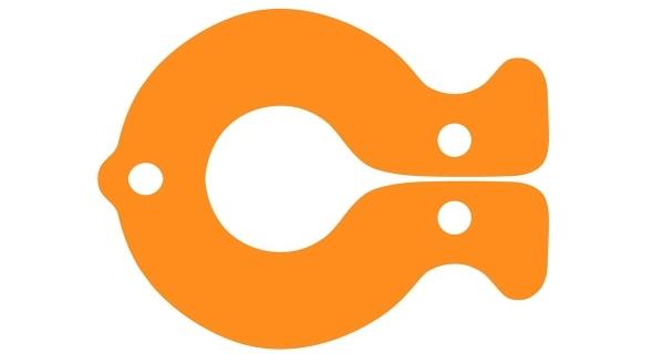Plovák ryba - oranžová