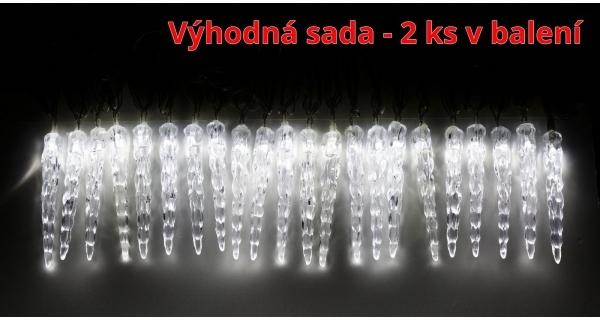 Rampouchy mini 40 ks řetěz světelný LED -  sada 2 ks