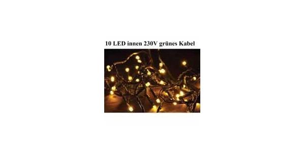 Řetěz 1,35 m - 10 LED - teplá bílá