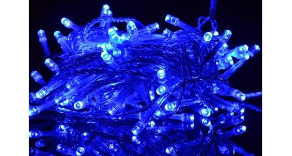 Řetěz 18 m - 200 LED - modrá