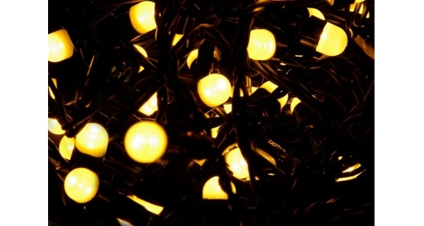 Řetěz 20 m - 200 maxi LED - teplá bílá