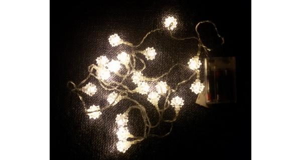 Řetěz hvězda sněhová 20 LED
