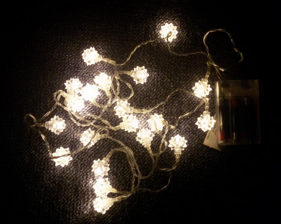 Řetěz hvězda sněhová 20 LED - 18000044