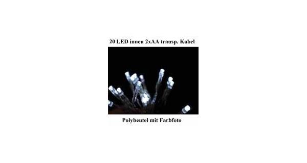 Řetěz LED 1,9 m - studená bílá