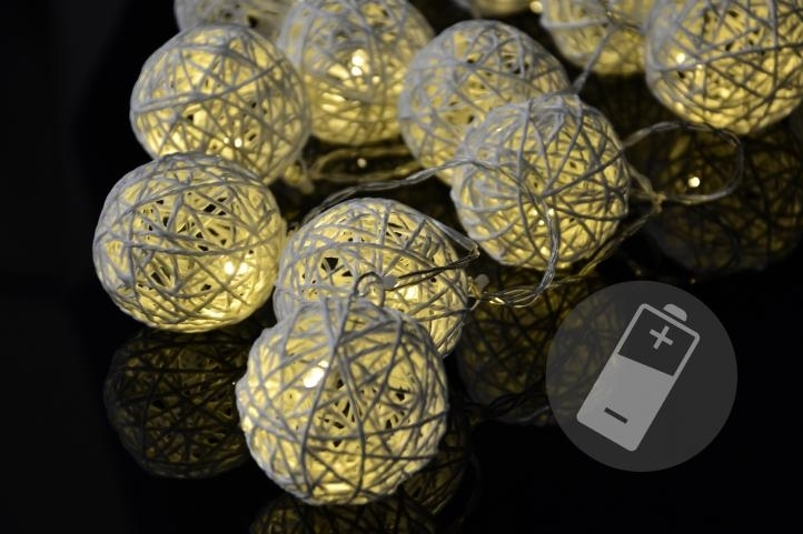 OEM D33208 vánoční LED osvětlení Ratanové koule 20 LED