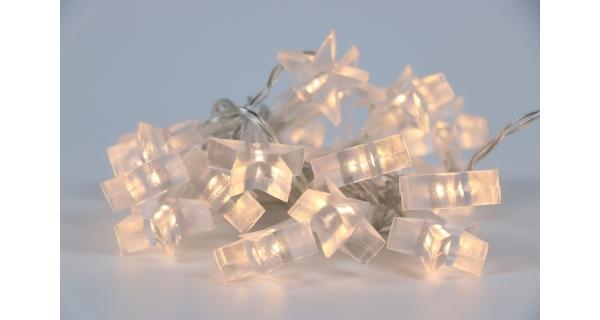 Řetěz s hvězdami 20 LED