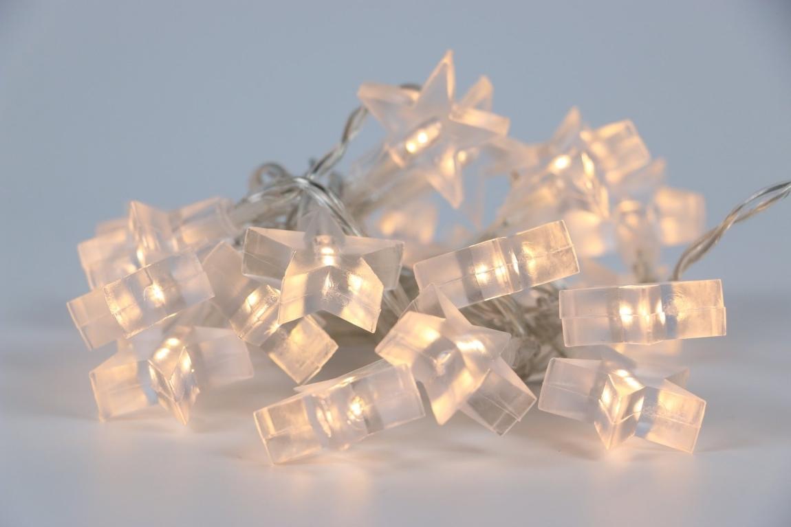 Marimex Řetěz s hvězdami 20 LED - 18000299