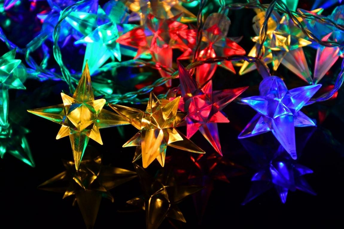 OEM D33456 vánoční LED osvětlení Barevné hvězdy 40 LED