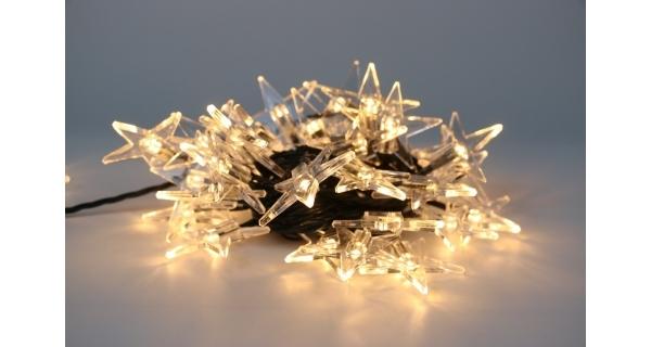 Řetěz s hvězdami 40 LED