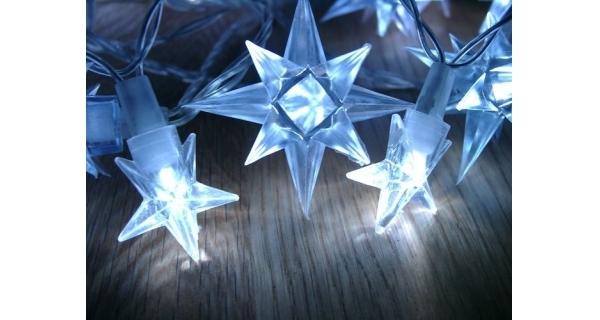 Řetěz s hvězdami 40 LED - modrá