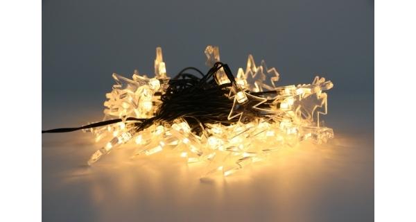 Řetěz se stromečky 40 LED - teplá bílá