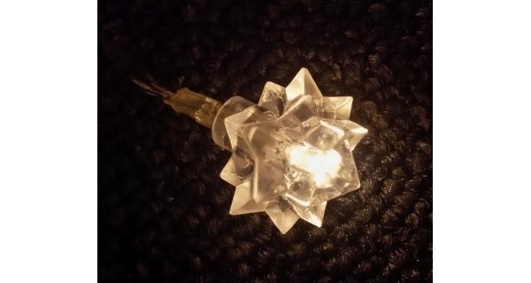 Řetěz sněhová hvězda 20 LED