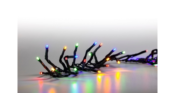 Řetěz světelný 100 LED - barevná - zelená - mód