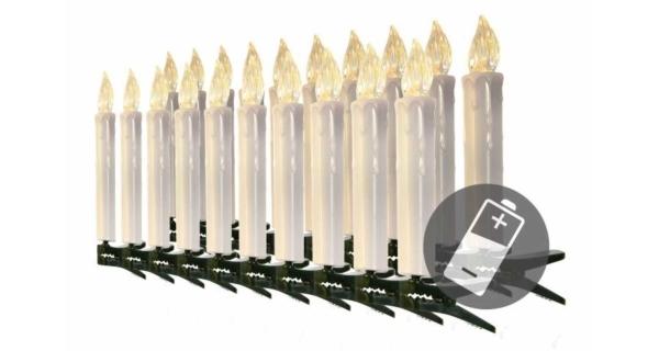 Řetěz svíčky 20 LED bezdrátové - teplá bílá
