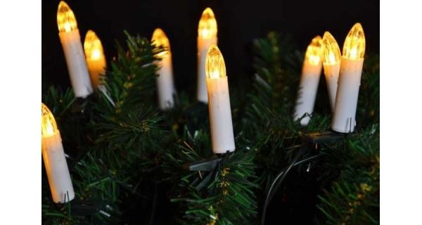 Řetěz svíčky 20 LED - teplá bílá