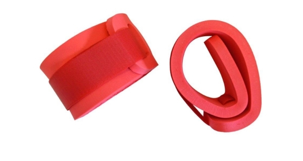 Rukávky nadlehčovací na suchý zip - pár - červená