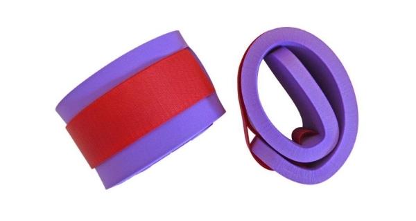 Rukávky nadlehčovací na suchý zip - pár - fialová